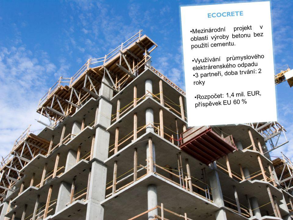ECOCRETE Mezinárodní projekt v oblasti výroby betonu bez použití cementu.