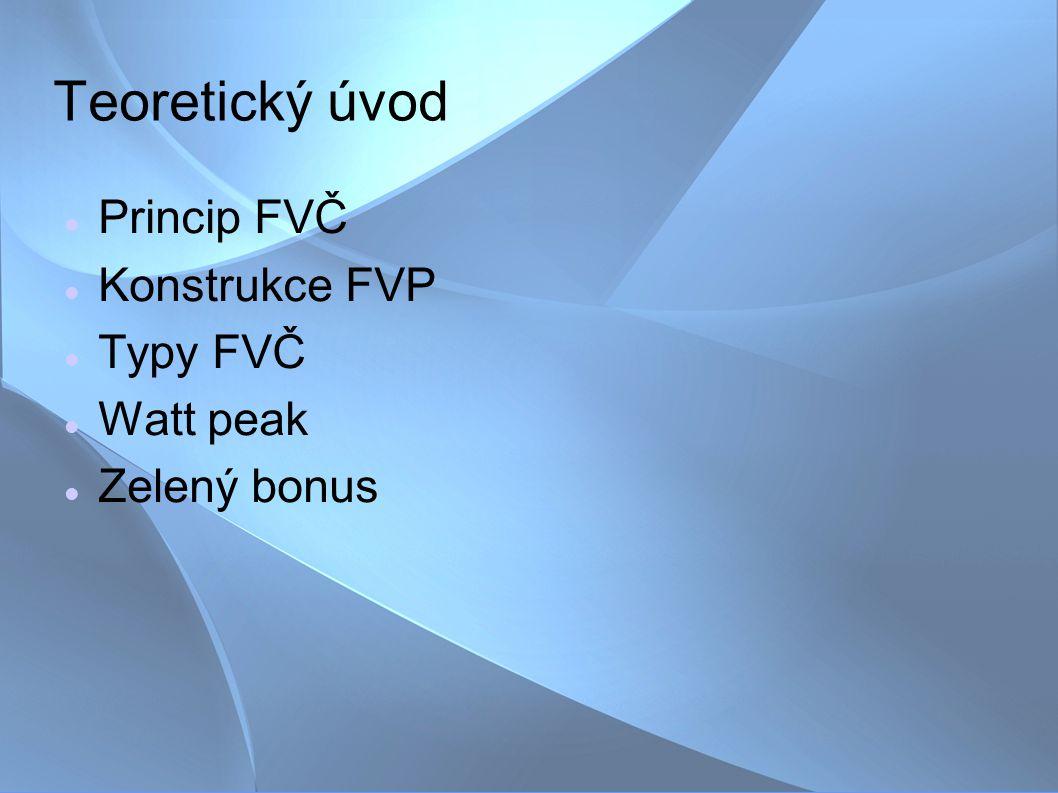 Základní princip FVČ Fotovoltaický článek je v podstatě polovodičová dioda.
