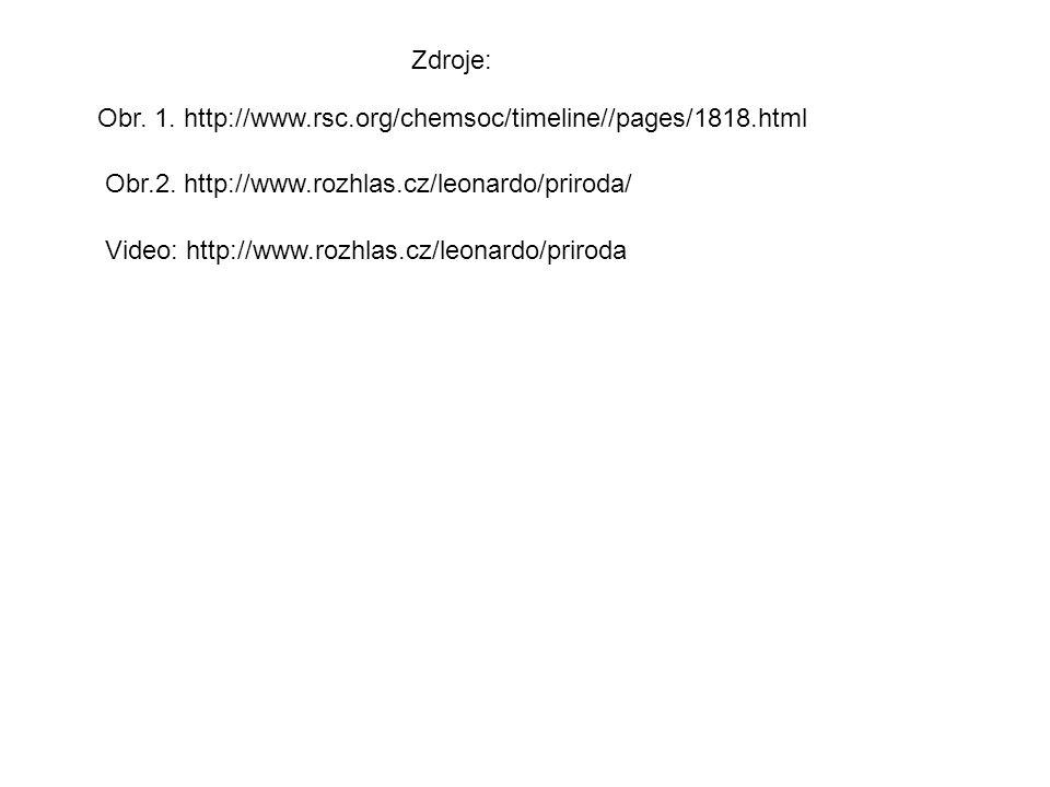 Obr.2. http://www.rozhlas.cz/leonardo/priroda/ Zdroje: Obr. 1. http://www.rsc.org/chemsoc/timeline//pages/1818.html Video: http://www.rozhlas.cz/leona