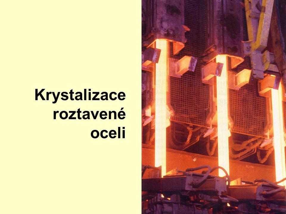Revoluce v ocelářství KONTINUÁLNÍ LITÍ 1933 první pokusy 1950 průmyslové využití 1960 10% výroby 1985 50% výroby 2000 90% výroby