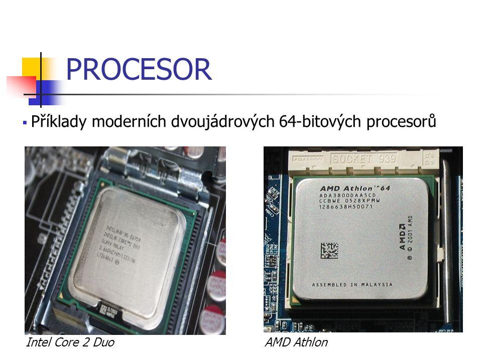 HARDWARE – DÍLY POČÍTAČE Základní deska (Mainboard, Motherboard) integruje (začleňuje) všechny předchozí komponenty do jednoho celku: socket (nebo více socketů) pro osazení procesoru DIMM sloty pro připojení paměťových modulů PCI Express sloty pro připojení grafických karet a dalších karet (dříve obyčejné PCI sloty) všechny tyto komponenty jsou spojeny pomocí sběrnic přenos dat těmito sběrnicemi je řízen pomocí čipové sady
