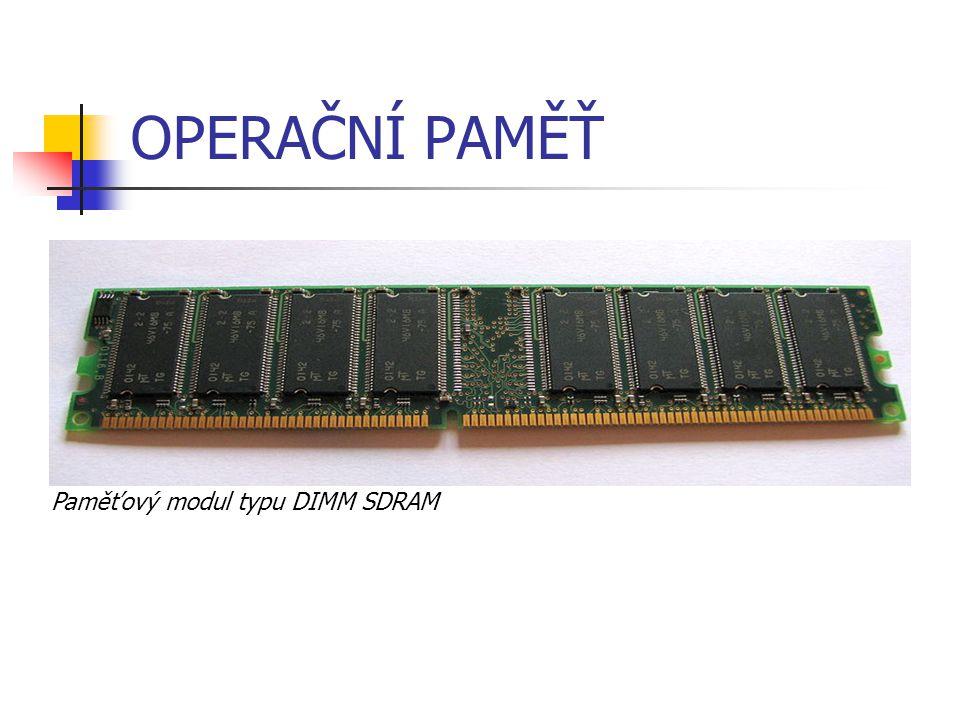 HARDWARE – DÍLY POČÍTAČE Pevný disk (hard disk) hlavní úložiště na svých plotnách používá magnetický záznam nad plotnami se pohybuje čtecí/záznamová hlava umístěn nejčastěji ve skříni počítače.