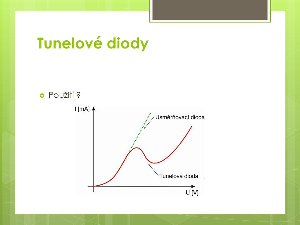 Tunelové diody  Použití ?