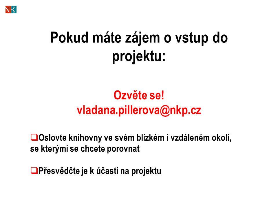 Pokud máte zájem o vstup do projektu: Ozvěte se! vladana.pillerova@nkp.cz  Oslovte knihovny ve svém blízkém i vzdáleném okolí, se kterými se chcete p