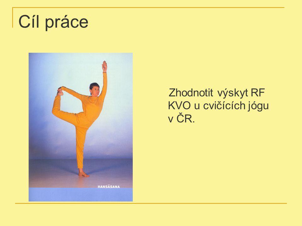 Cíl práce Zhodnotit výskyt RF KVO u cvičících jógu v ČR.
