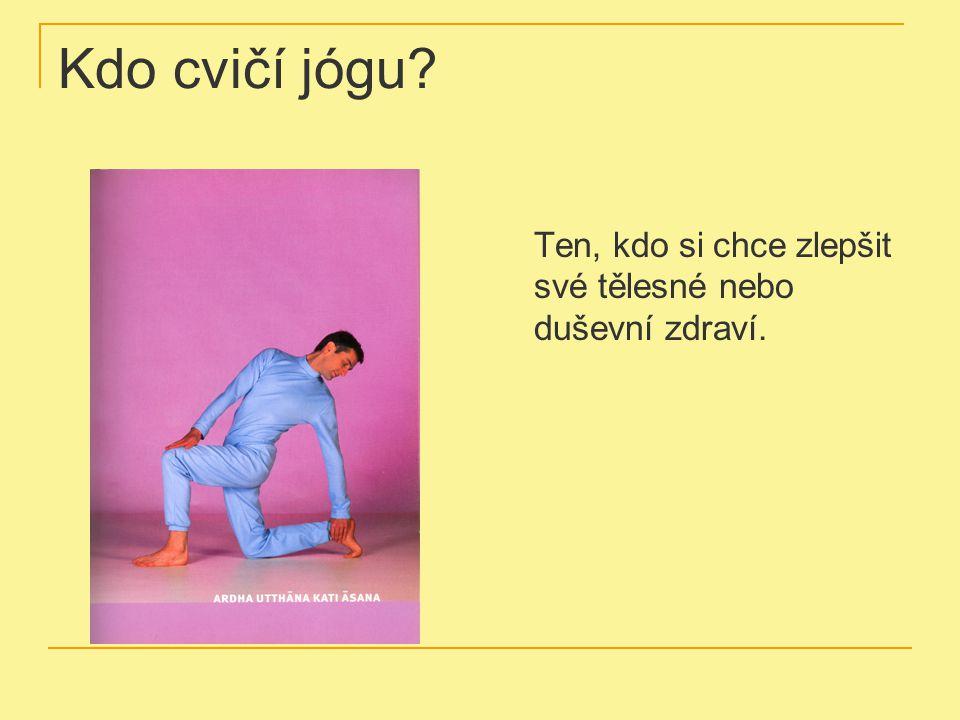 Kdo cvičí jógu? Ten, kdo si chce zlepšit své tělesné nebo duševní zdraví.