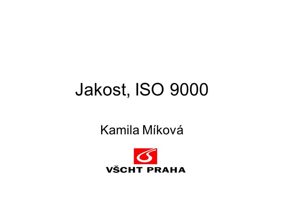 Jakost, ISO 9000 Kamila Míková