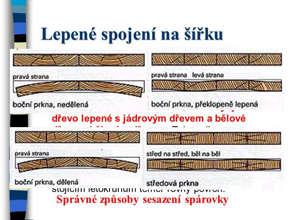 Lepené spojení na šířku U nábytku z masivního dřeva a u silně namáhaných pracovních desek jsou často potřeba široké plochy s těsnými spárami. Proto je