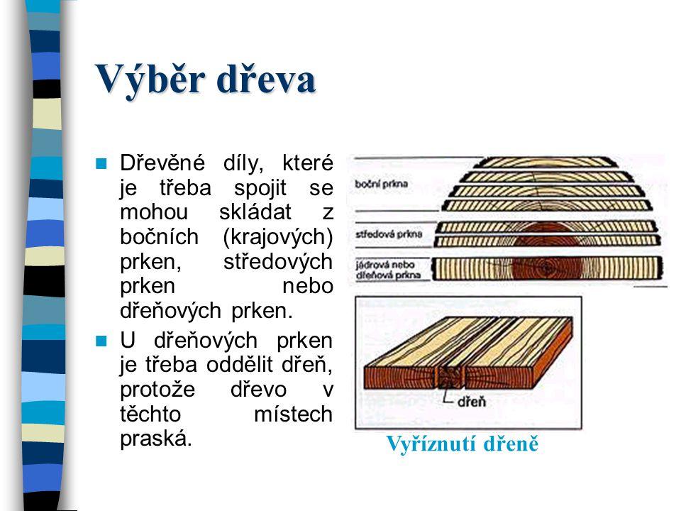 Nelepená spojení na šířku Nelepená spojení na šířku je třeba zvolit tehdy, pokud mají být vyrobeny široké plochy z masivního dřeva, které budou vystav
