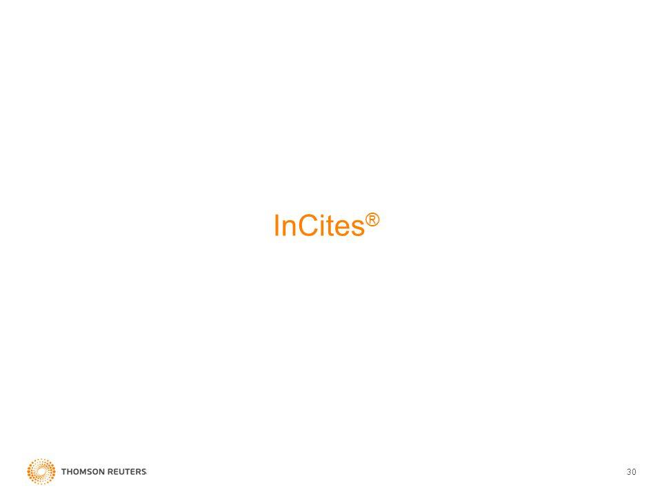 InCites ® 30