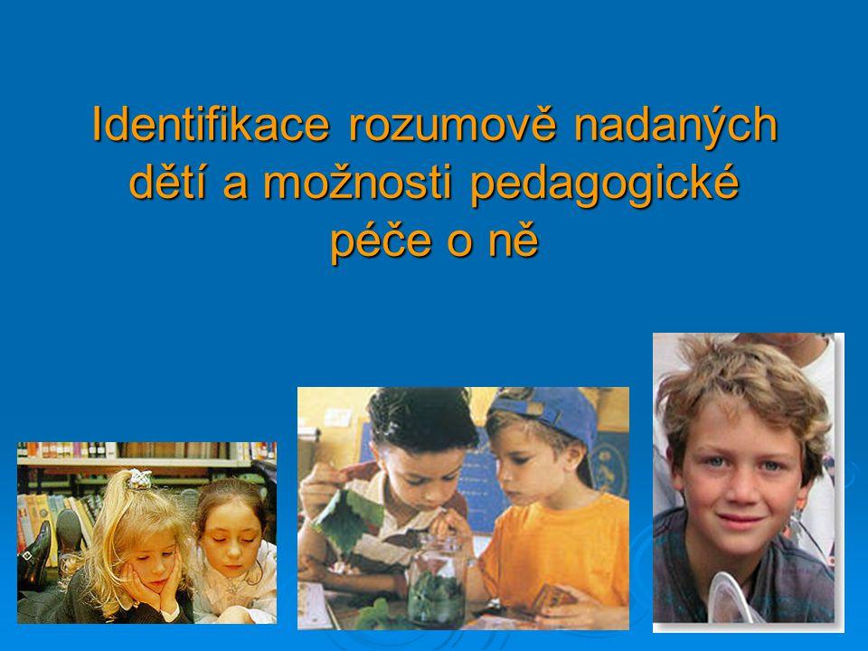 Nadané děti s různými styly učení