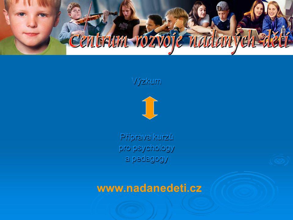 Všechny typy nadaných dětí potřebují:  Správnou identifikaci  Materiály, podněty, rozvoj  Prostupný vzdělávací systém  Vzdělané učitele  Emoční podporu