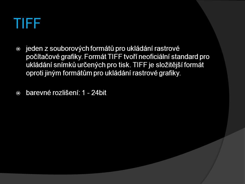 TIFF  jeden z souborových formátů pro ukládání rastrové počítačové grafiky. Formát TIFF tvoří neoficiální standard pro ukládání snímků určených pro t