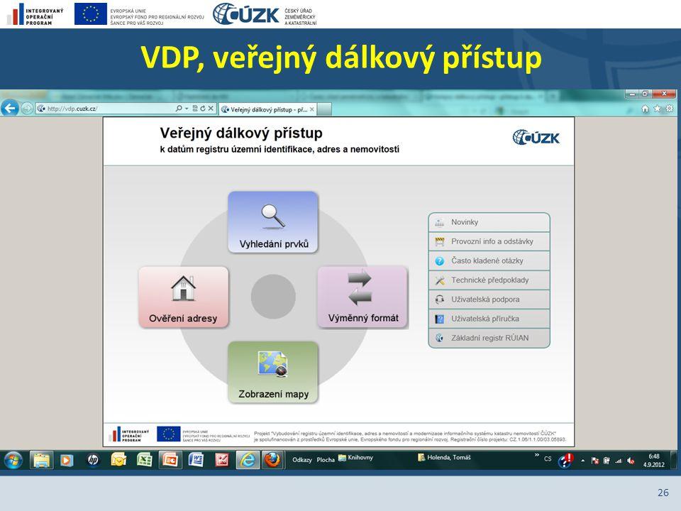 VDP, veřejný dálkový přístup 26