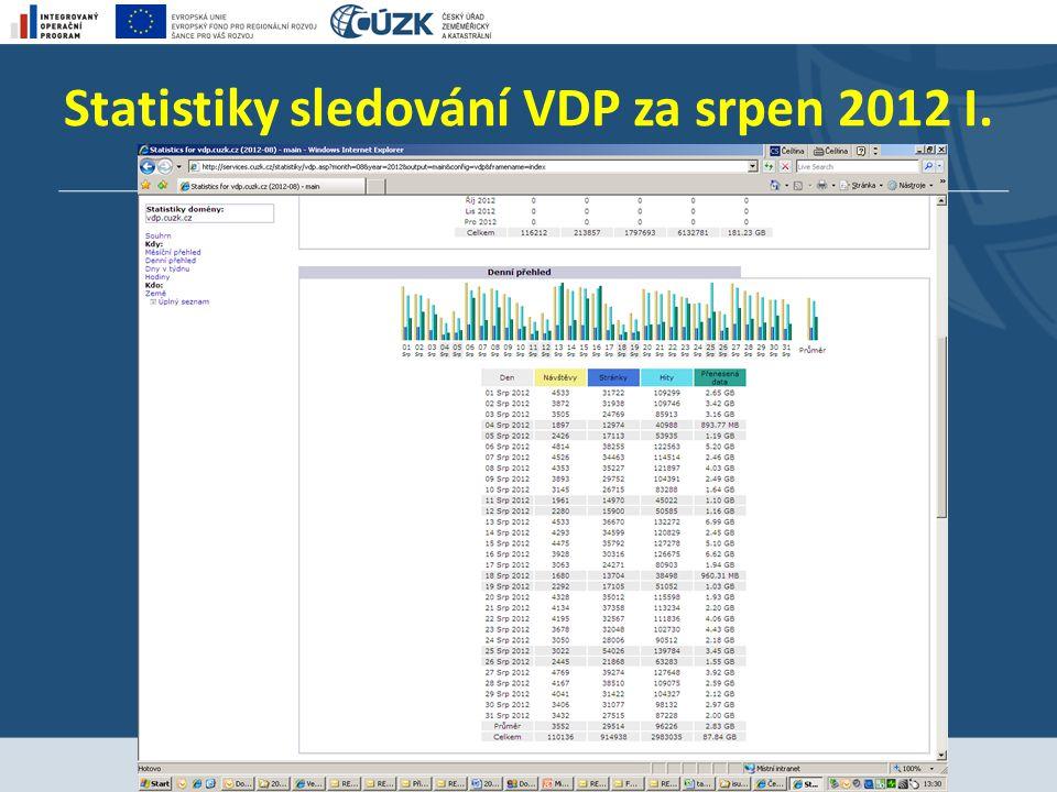 Statistiky sledování VDP za srpen 2012 I.