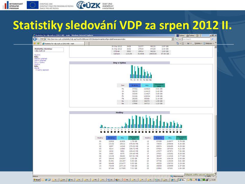 Statistiky sledování VDP za srpen 2012 II.
