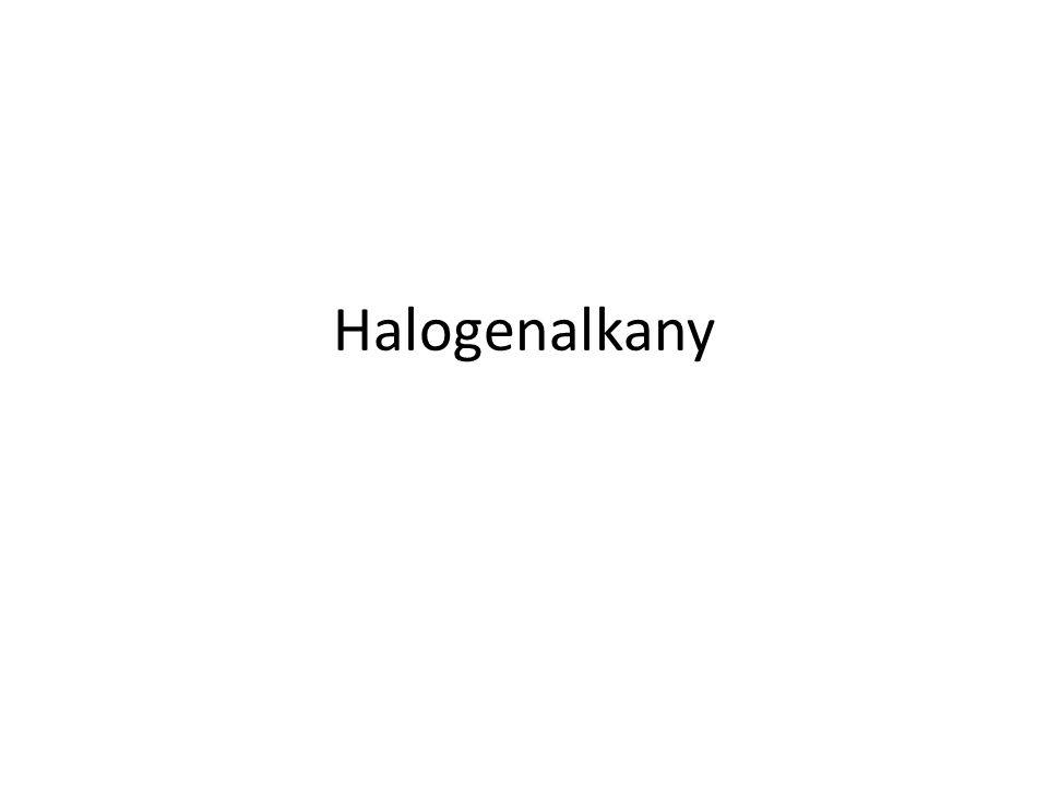 Obsahují ve své struktuře alespoň jeden kovalentně vázaný atom halogenu