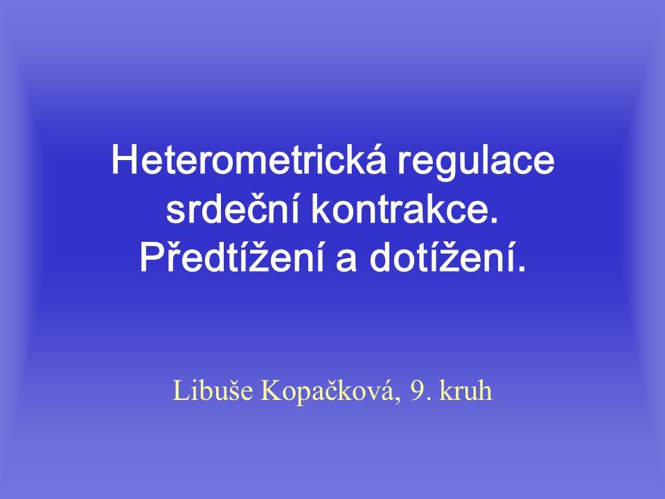 Heterometrická regulace srdeční kontrakce. Předtížení a dotížení. Libuše Kopačková, 9. kruh