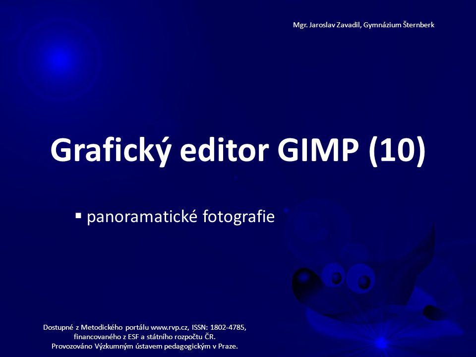 Grafický editor GIMP (10) Mgr.