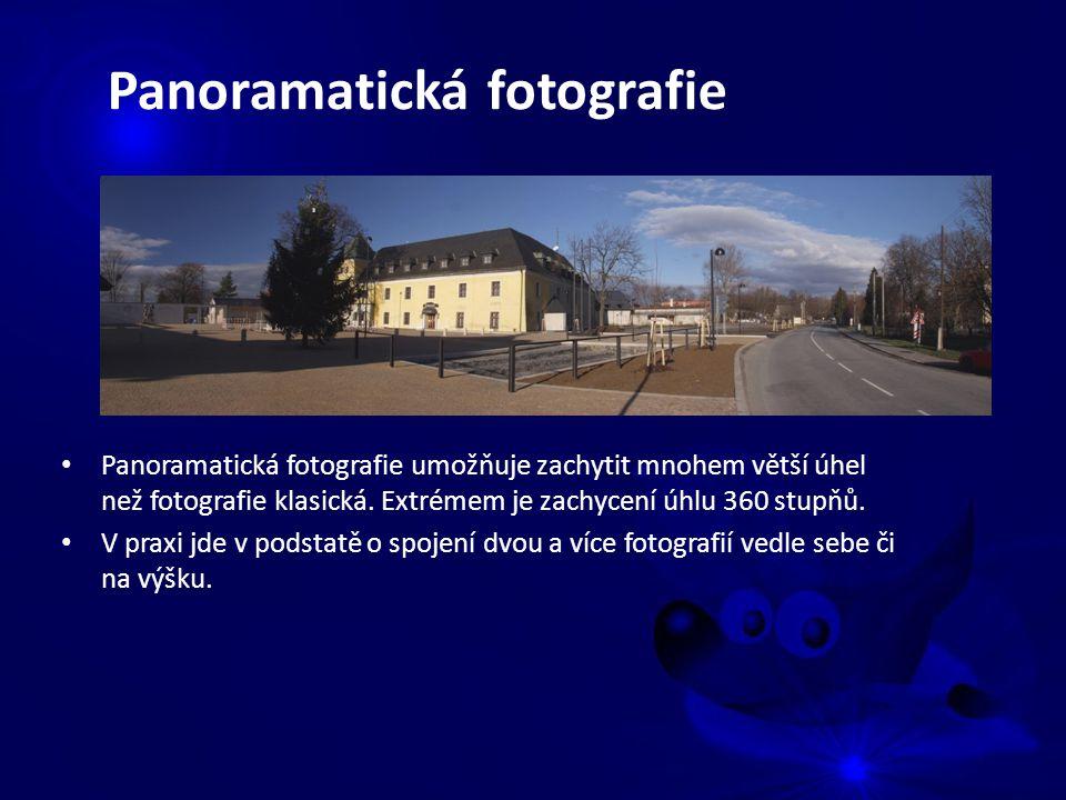 Panoramatická fotografie umožňuje zachytit mnohem větší úhel než fotografie klasická.