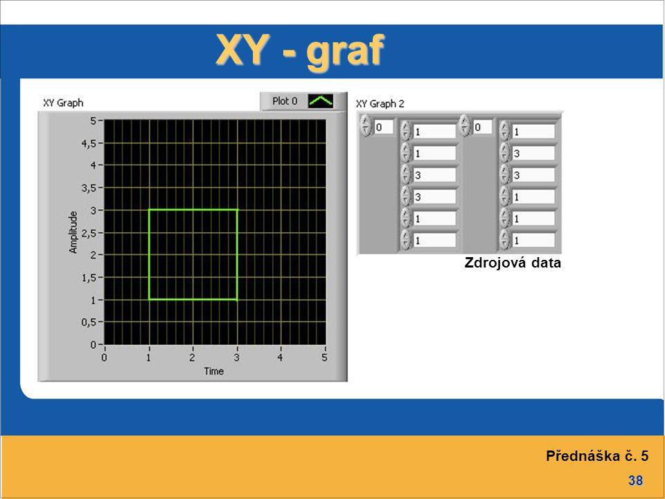 38 XY - graf Zdrojová data Přednáška č. 5