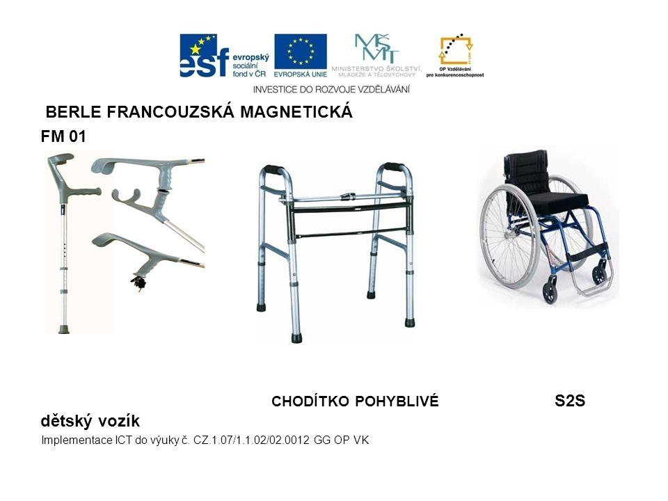 BERLE FRANCOUZSKÁ MAGNETICKÁ FM 01 CHODÍTKO POHYBLIVÉ S2S dětský vozík Implementace ICT do výuky č. CZ.1.07/1.1.02/02.0012 GG OP VK