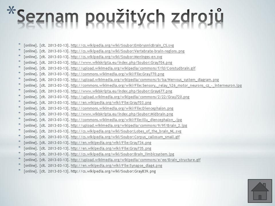 * [online]. [cit. 2013-03-13]. http://cs.wikipedia.org/wiki/Soubor:EmbryonicBrain_CS.svghttp://cs.wikipedia.org/wiki/Soubor:EmbryonicBrain_CS.svg * [o