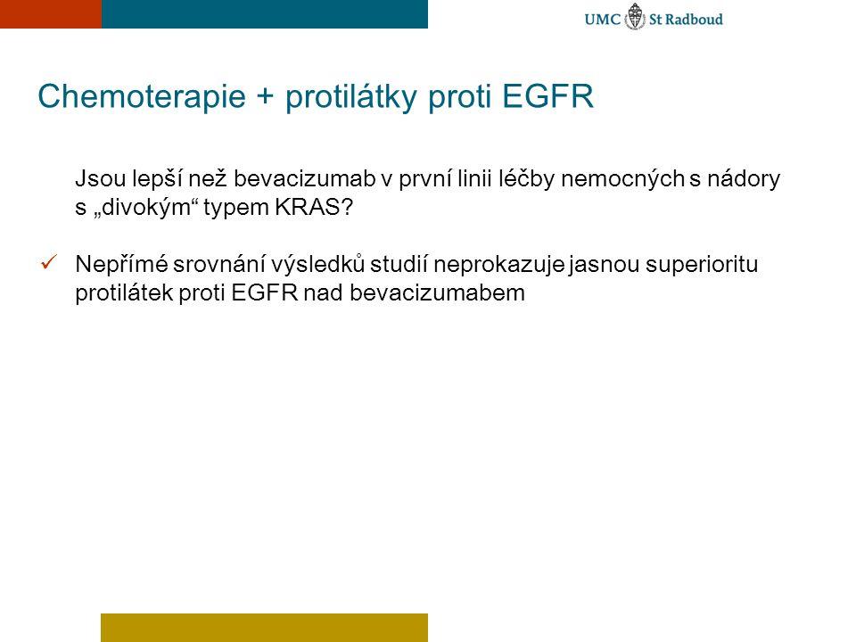 """Chemoterapie + protilátky proti EGFR Jsou lepší než bevacizumab v první linii léčby nemocných s nádory s """"divokým"""" typem KRAS? Nepřímé srovnání výsled"""
