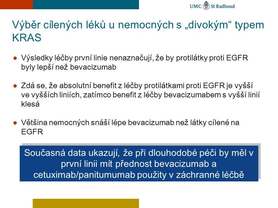 """Výběr cílených léků u nemocných s """"divokým"""" typem KRAS ● Výsledky léčby první linie nenaznačují, že by protilátky proti EGFR byly lepší než bevacizuma"""