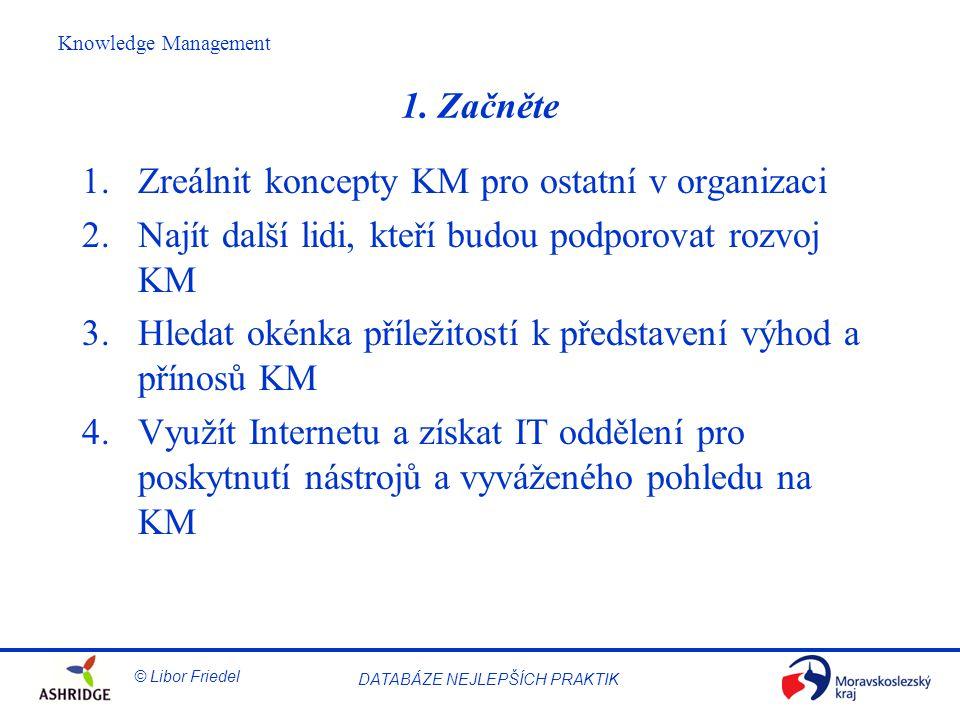 © Libor Friedel Knowledge Management DATABÁZE NEJLEPŠÍCH PRAKTIK 1.