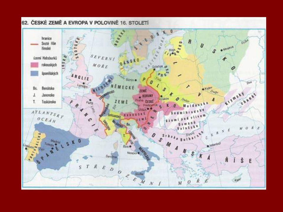 Španělsko 15.století - bohatlo díky koloniím, které získalo během objevných plaveb 16.