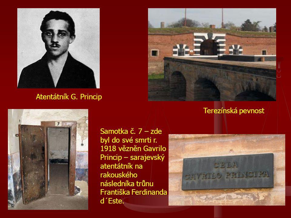 Samotka č. 7 – zde byl do své smrti r. 1918 vězněn Gavrilo Princip – sarajevský atentátník na rakouského následníka trůnu Františka Ferdinanda d´Este.