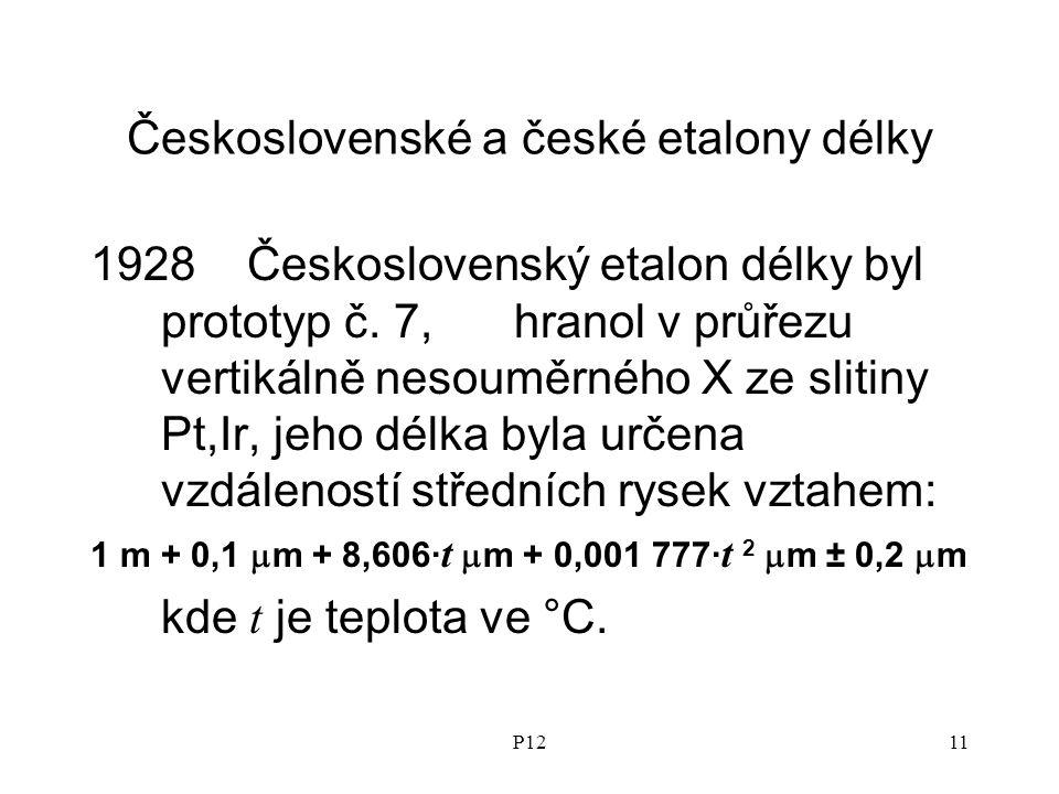 P1211 Československé a české etalony délky 1928 Československý etalon délky byl prototyp č.