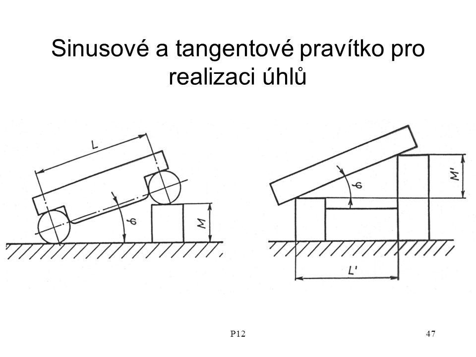 P1247 Sinusové a tangentové pravítko pro realizaci úhlů