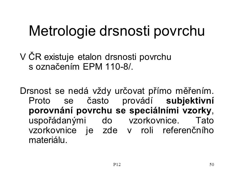 P1250 Metrologie drsnosti povrchu V ČR existuje etalon drsnosti povrchu s označením EPM 110-8/.