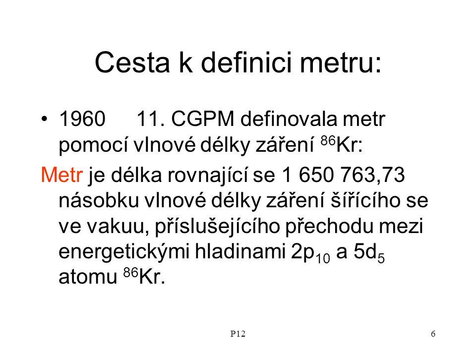 P126 Cesta k definici metru: 196011.