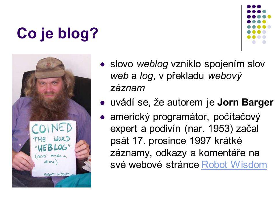 Co je blog.