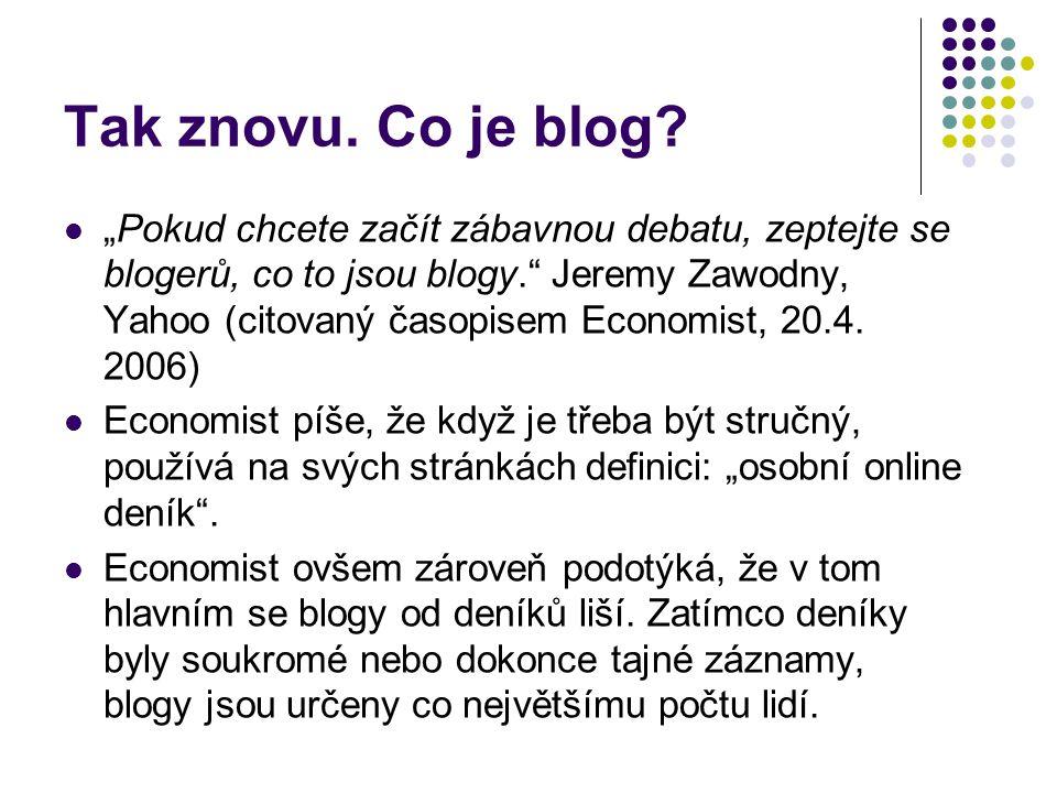 Tak znovu.Co je blog.