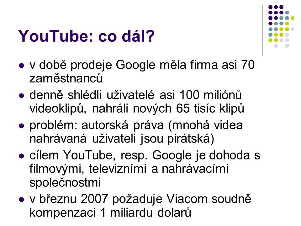 YouTube: co dál.