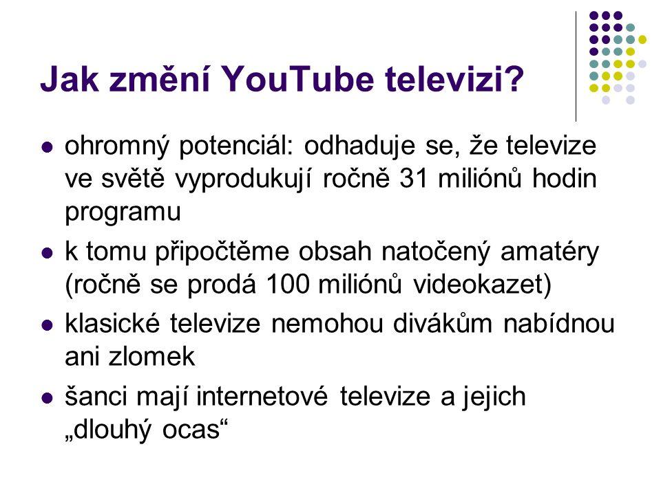 Jak změní YouTube televizi.