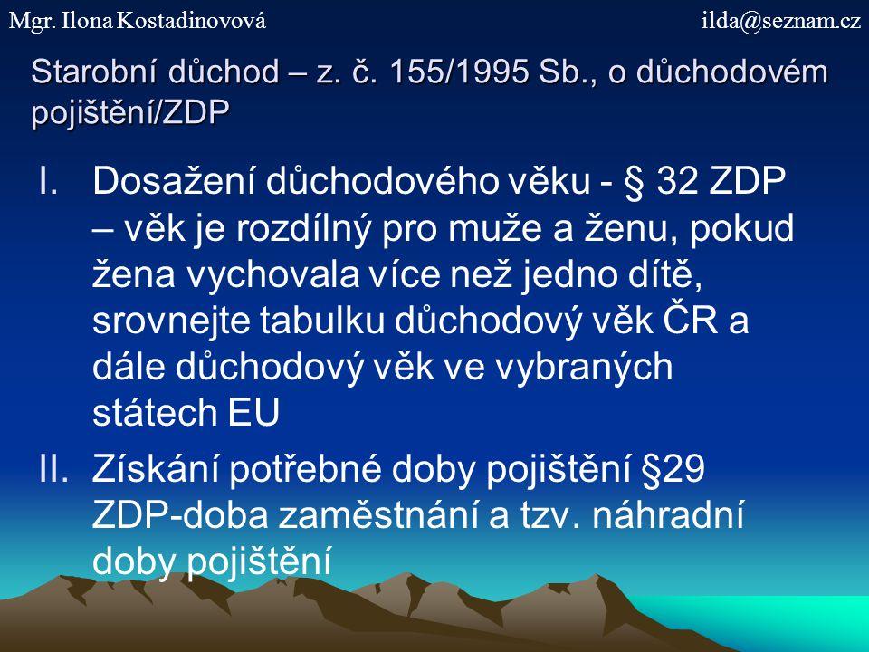 Starobní důchod – z.č.