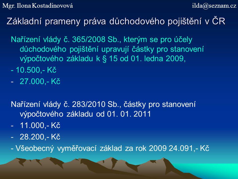 Příklad účasti OSVČ na důch.poj. Nové znění § 8 odst.