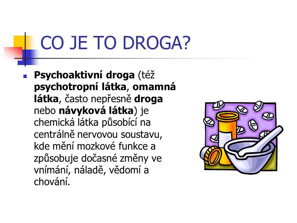 Jaké jsou druhy drog.Drogy jsou rozděleny na: -m-měkké (např.
