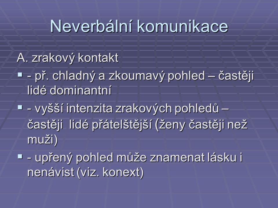 Neverbální komunikace B.
