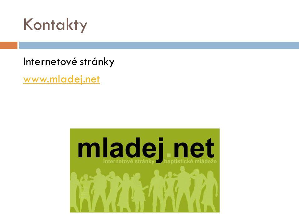 Kontakty Internetové stránky www.mladej.net