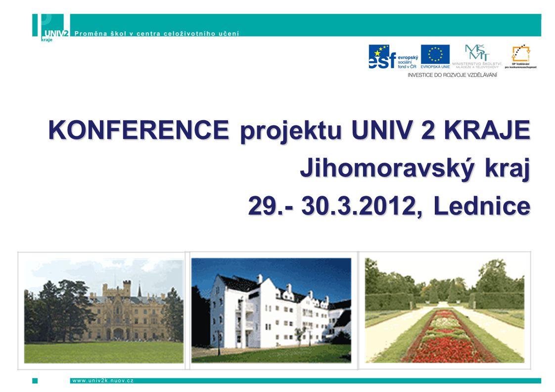KONFERENCE projektu UNIV 2 KRAJE Jihomoravský kraj 29.- 30.3.2012, Lednice