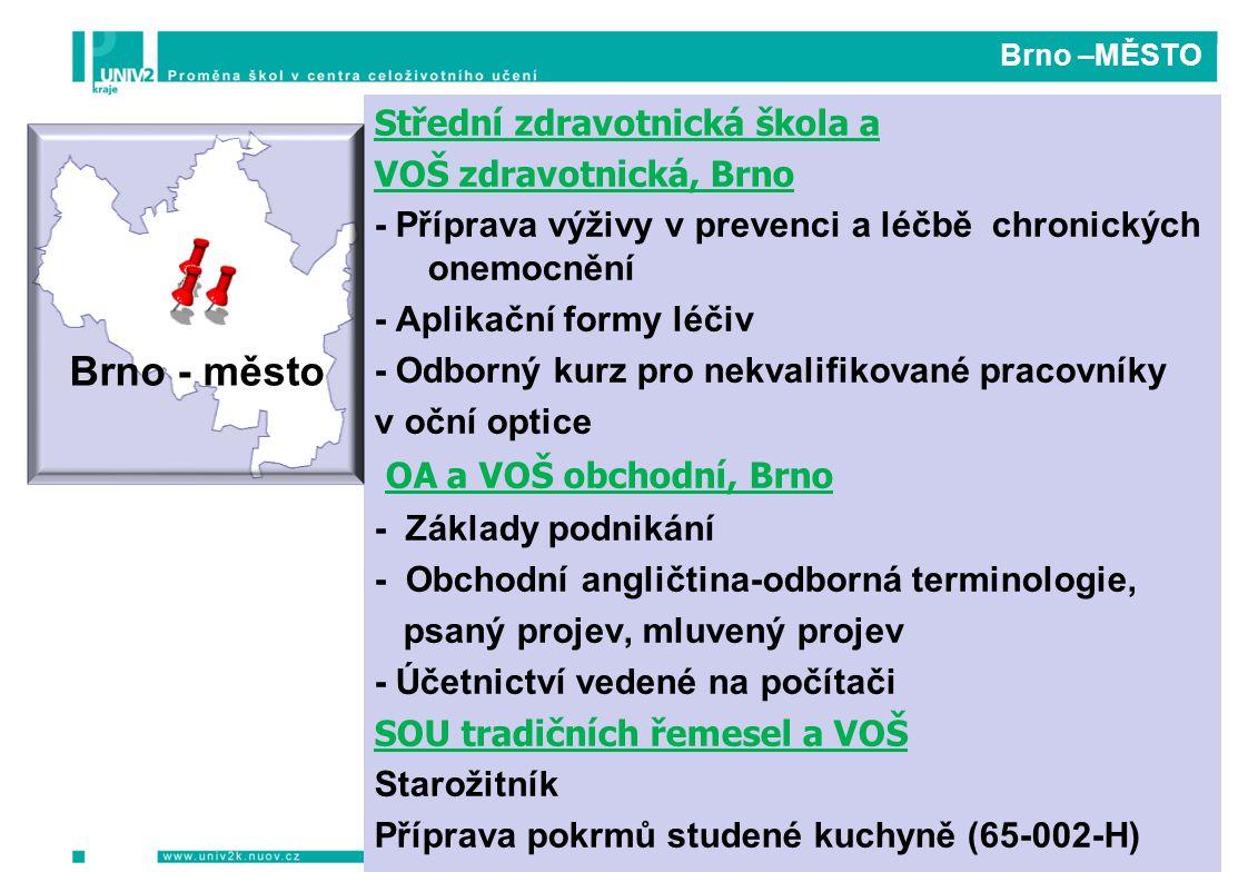 Brno –MĚSTO Střední zdravotnická škola a VOŠ zdravotnická, Brno - Příprava výživy v prevenci a léčbě chronických onemocnění - Aplikační formy léčiv -