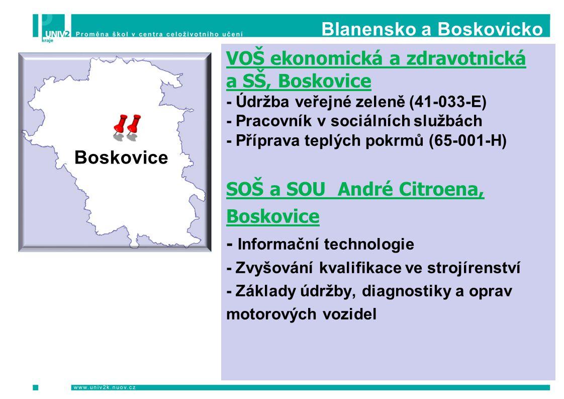 Blanensko a Boskovicko VOŠ ekonomická a zdravotnická a SŠ, Boskovice - Údržba veřejné zeleně (41-033-E) - Pracovník v sociálních službách - Příprava t