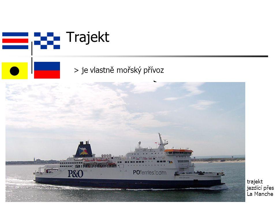 Trajekt > trajekt jezdící přes La Manche > je vlastně mořský přívoz