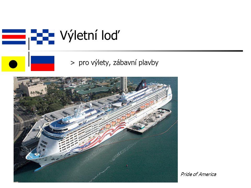 Výletní loď > pro výlety, zábavní plavby Pride of America